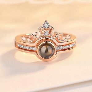 Wedding SET of (ring) and (necklace) RoseGold